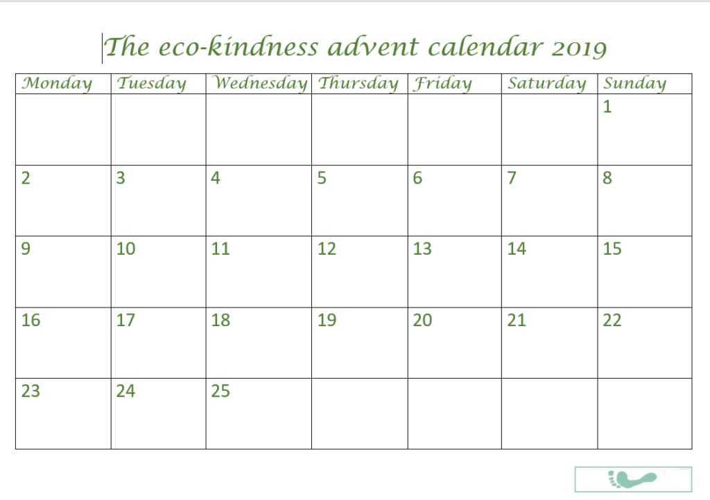 Eco-Kindness Calendar 2