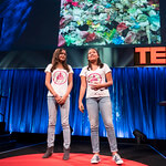 Melati and Isabel Wijsen at TED Global London