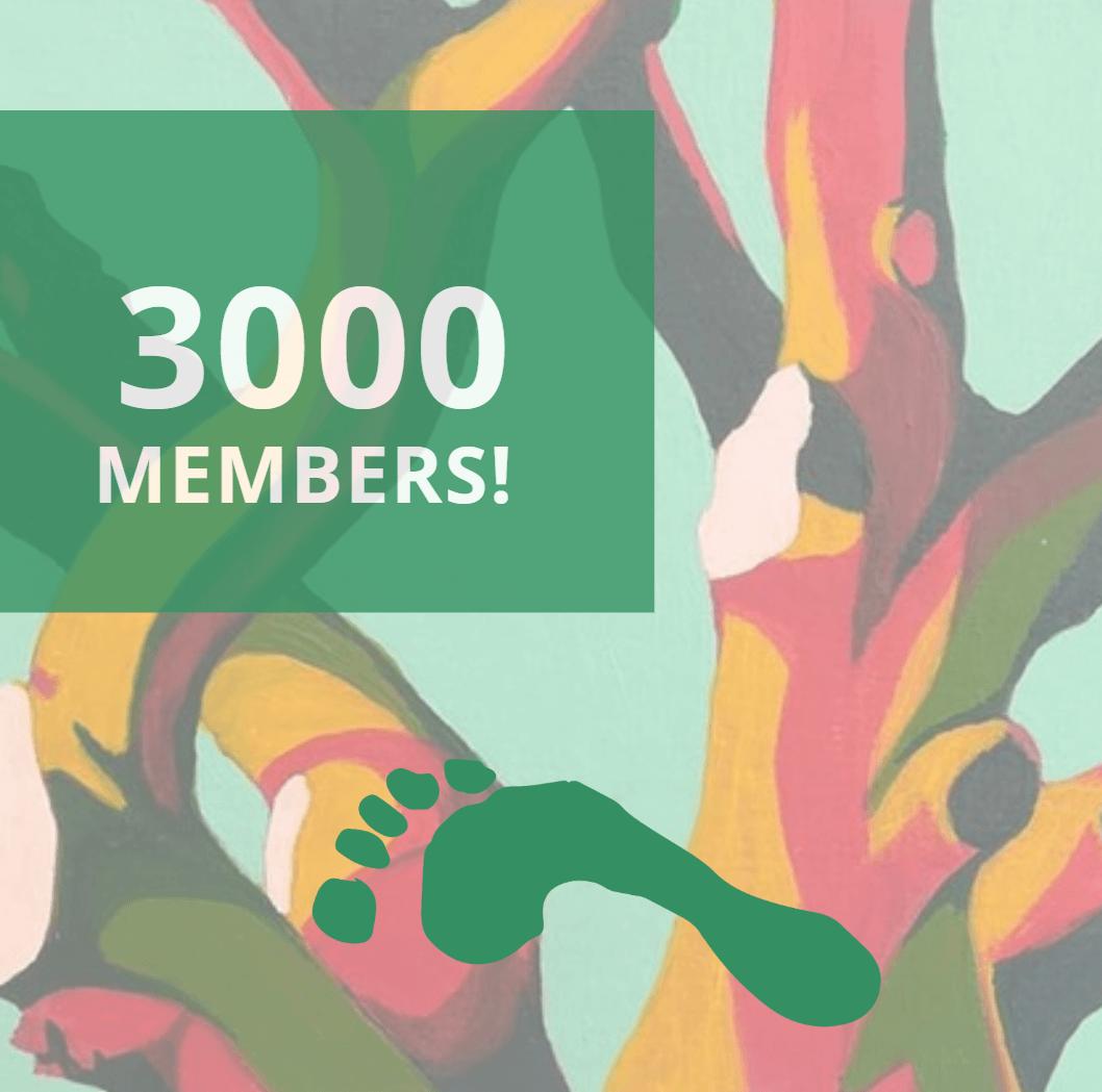 3000 members
